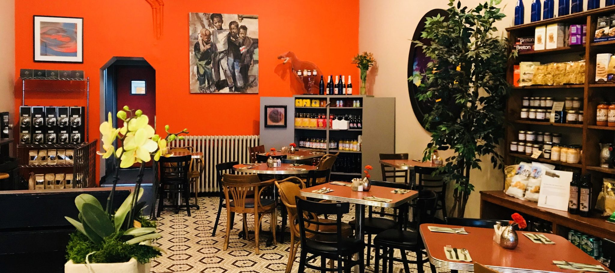 The Interior of The Cascades Deli Restaurant and Caterer in Hudson, NY